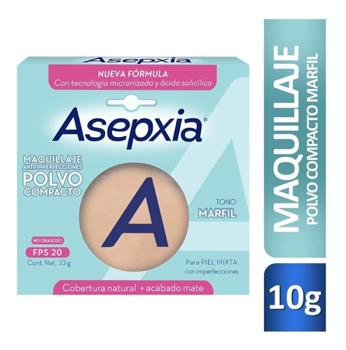Maquillaje En Polvo Asepxia Anti-imperfecciones X 10g Fps 20