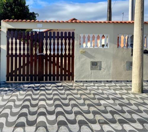Imagem 1 de 14 de Casa Em Mongagua No Bal. Florida Mirim Com Churrasqueira