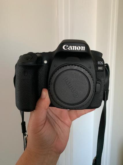 Câmera Canon 80d + Lente 18-135mm + Adaptador De Zoom Pz-e1
