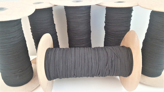 Elastico Negro 4mm X 250 Mts. Ideal Barbijo Tapaboca