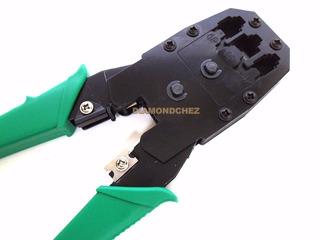 Pinza Crimpeadora Rj45 Rj11 Rj9 Red - Teléfono Pela Cable