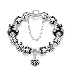 Pulseira Estilo Pandora Bracelete Completo Com 15 Berloque