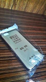 Case Slim Transparente Fumê Tpu iPhone 6/6s