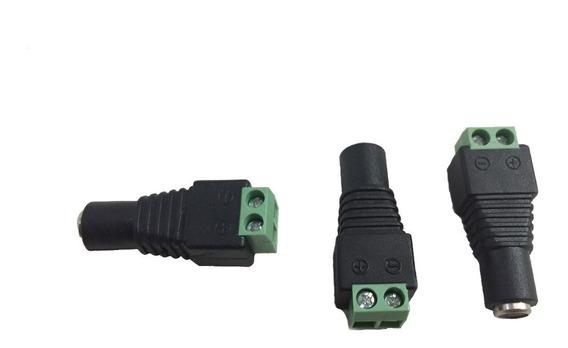 Conector Corriente Dc Hembra O Macho Plug Cctv (8 Unidades)