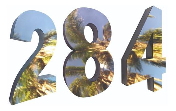 3 Números Residencial 20cm Aço Inox Espelhado Corte A Laser