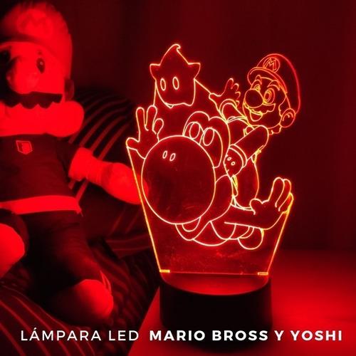 Lampara 3d Mario & Yoshi / Super Mario Nintendo