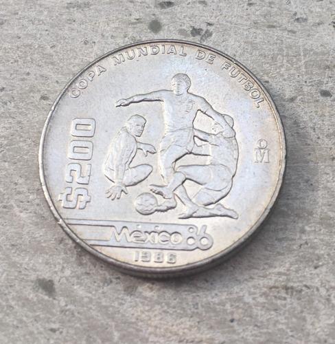 Moneda De 200 México 1986