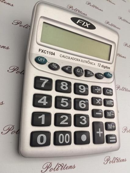 Calculadora Fix 12 Dígitos Com Tecla Fxc1104 K3067