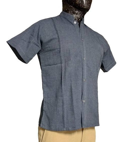 Guayabera Yucateca, Lino Flame, Cuello Mao, Cuello Filipino