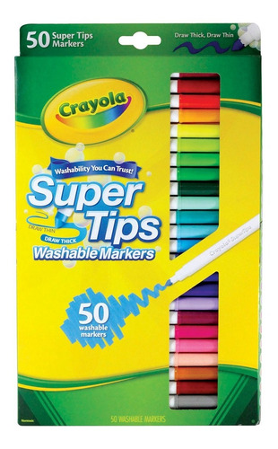 Super Tips Crayola 50 Plumones Lettering En Stock Originales