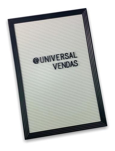 Imagem 1 de 6 de Quadro Letter Board Letreiro 47x32cm P/ Formar Frases Recado