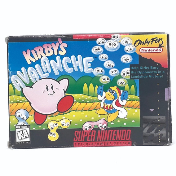 Kirbys Avalanche Na Caixa Snes! Loja Física! Parcele S Juros