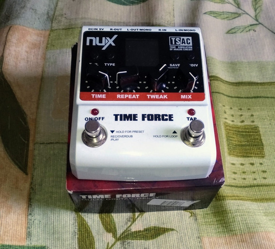 Pedal Nux Time Force Delay (ñ Mooer, Boss, Behringer)