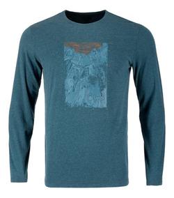 Polera Hombre Lippi Coordinate Long Sleeve Cotton T-shirt Az
