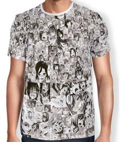 Camisas De Animes Hentai Ahegao Especial - Preta E Branca