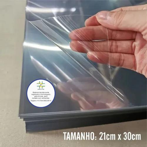 Imagem 1 de 5 de 200 Folhas De Acetato Pet Transparente - 20x30cmx0,20mm Esp.