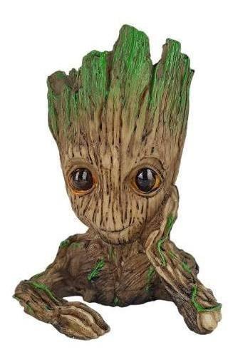 Baby Groot Vaso Suculentas Cacto Mãos No Rosto Planta Resina