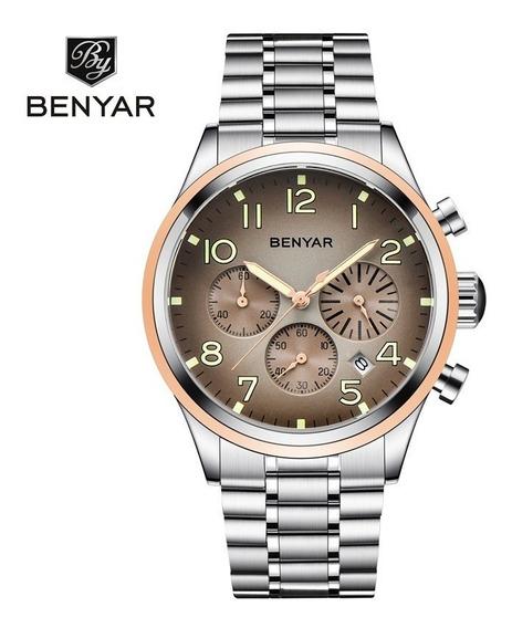 Relógio Pulso - Benyar - 43 Mm - Hardlex