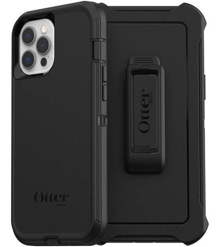 Otterbox Carcasa Defender + Vidrio iPhone 12 Pro Max Negro