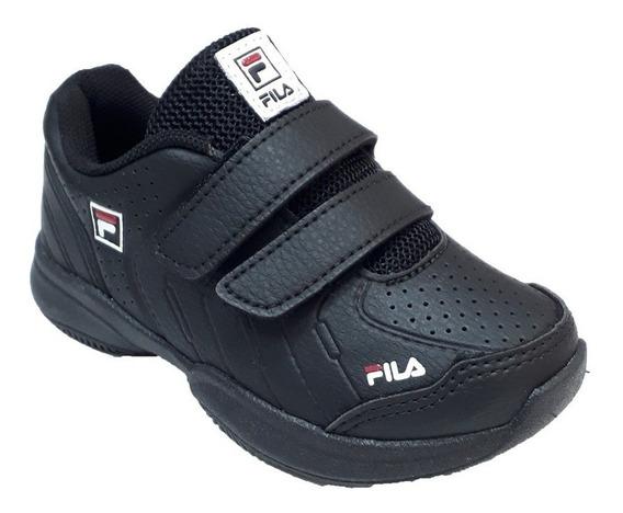 Zapatillas Fila Niños Lugano 5.0 Vlc Kids Negro - 732055