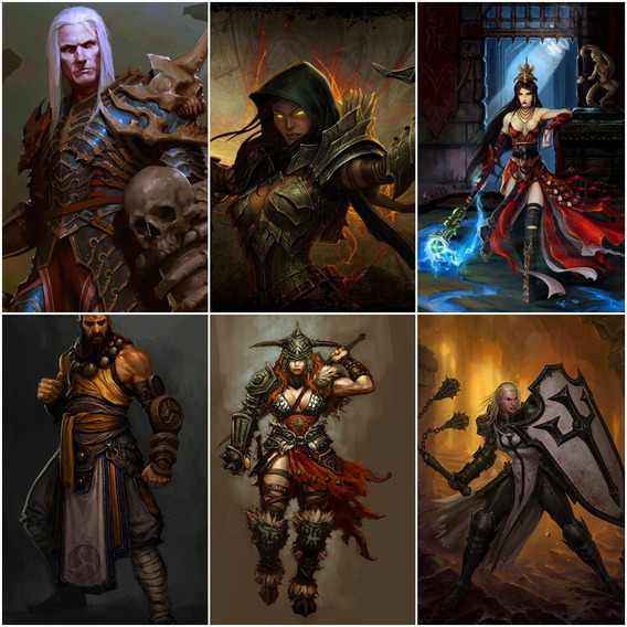 Diablo 3 - Kit Completo ( 7 Personagens) Fenda 150