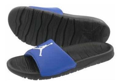 Ojotas Jordan Break Slide Hombre Azul