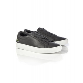 Exclusivas Zapatillas De Cuero Lacoste, Dark Grey
