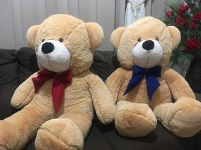 Urso Gigante Grande Personalizado Pelúcia Macio Teddy 110cm