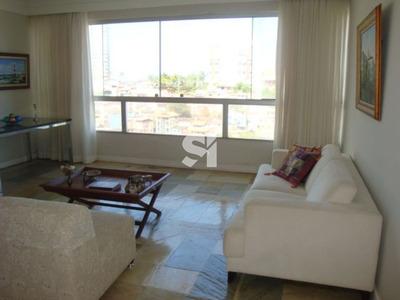 Apartamento 3 Quartos, 2 Suítes, Vista Mar, Amplo, Na Barra!!! - Ab0186