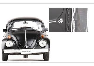 Fusca Miniatura 1/32 1967 Metal Preto 12,5cm Wolks Preto