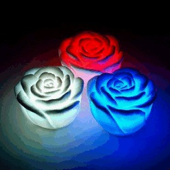 Rosas Led Natal - Alterna 7 Cores - Kit 20 Unidades