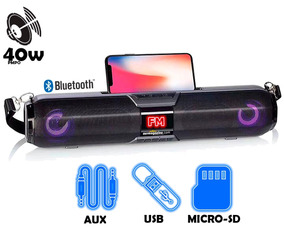 Home Theater Bluetooth Usb Micro Sd Radio Fm Aux Mic 40w