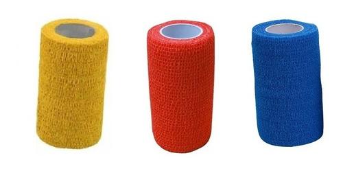 12 Bandagens Elástica Adesiva Atadura 7,5cmx4,5m Bodybuilder