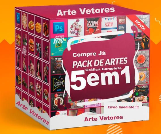 5 Em 1 Megapack 1 Tb De Artes Gráficas Psd Editavel Vetores