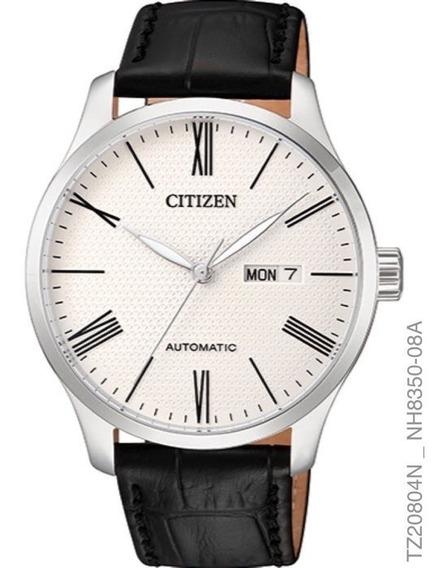 Relógio Citizen Masculino Automatico Tz20804n Aço Couro
