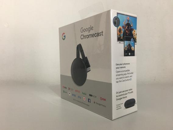 Conversor Tv Smart Chromecast 3 2019 Orignal Nota Fiscal