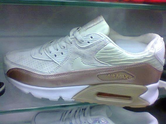 Tenis Nike Air Max 90 Branco E Marrom Nº38 Ao 43 Original!!!