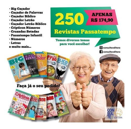 Imagem 1 de 1 de Kit 250 Revistas Passatempo Diversos Temas