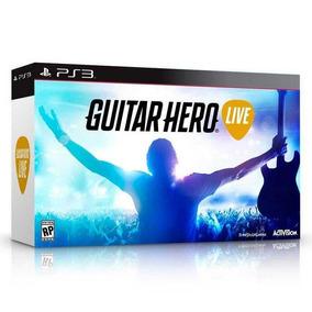 Guitar Hero Live Guitar Bundle Ps3 Mídia Física + Brinde