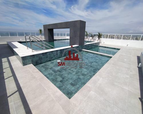 Apartamento Alto Padrão Vista Mar Com 3 Dormitórios Na Guilhermina Praia Grande - Ap02634 - 69277628