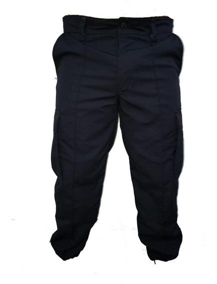 Pantalon, Bombacha, Antidesgarro, Rip Stop, Azul, Policia