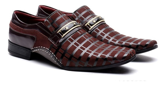 Sapato Social Calvest Masculino Artesanal Em Couro Conforto