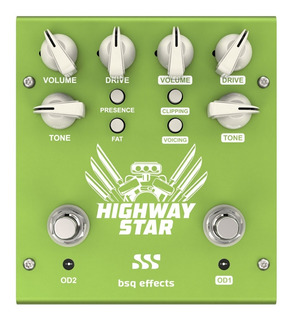 Pedal Overdrive Doble Bsq Effects Highway Star Hs2 Guitarra