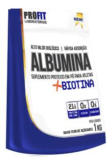 Albumina 1kg Profit Biotina Proteina Do Ovo Promoção