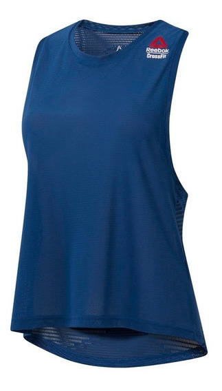 Reebok Musculosa Crossfit Mujer Jacquard Speedwick Azul