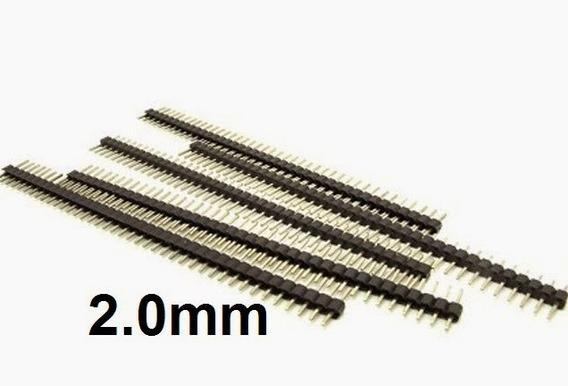 10x Barra De Pinos Macho 2.0mm (10peças)