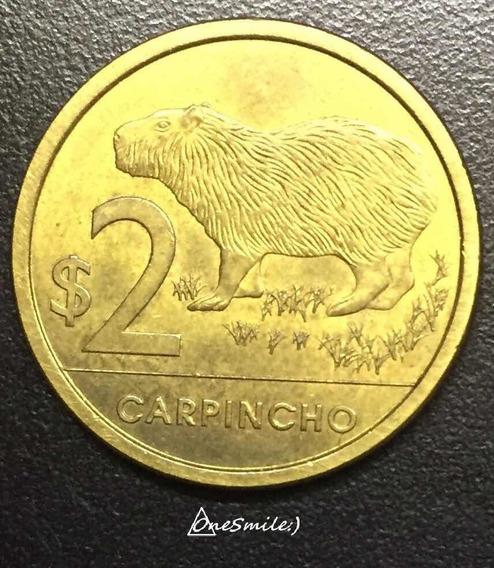 Onesmile:) Moneda De Uruguay Año 2014 Carpincho 2 Pesos