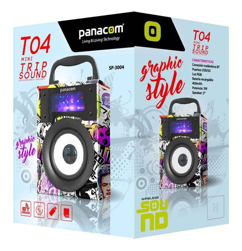 Parlante Portatil Bluetooth Panacom T04