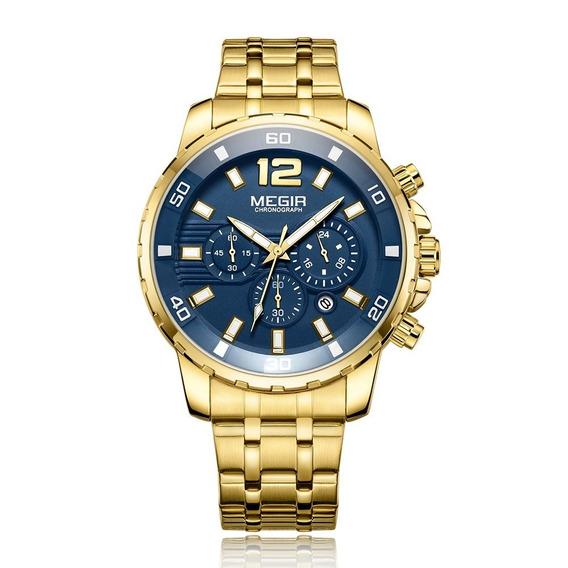 Megir 2068 Cronógrafo Homens Negócio Relógio