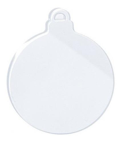 Imagen 1 de 1 de Esfera Navidad Decorativa Acrilico 10 Piezas 10 Cm Diámetro